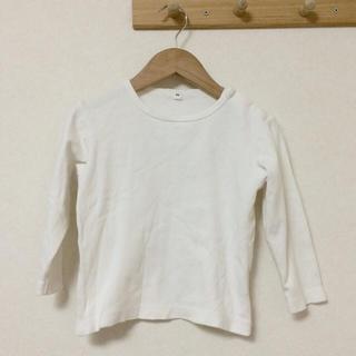 ムジルシリョウヒン(MUJI (無印良品))の起毛スムースTシャツ 90〜100(Tシャツ/カットソー)