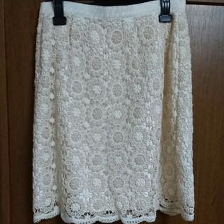 デビュードフィオレ(Debut de Fiore)の刺繍スカート(ひざ丈スカート)