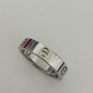 4ミリ幅ステンレスリング ラブリング ビスマークのみ シルバー(リング(指輪))