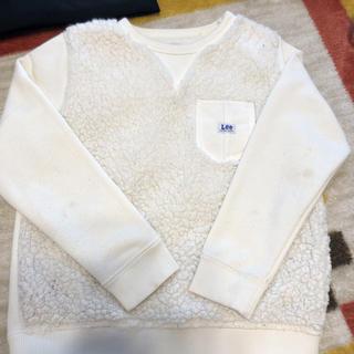 リー(Lee)のLee もこもこ プルオーバー スウェット 120 ホワイト(Tシャツ/カットソー)