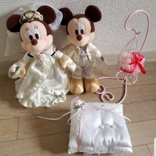 ディズニー(Disney)のミッキー&ミニー ぬいぐるみ ウエディングドール(ウェルカムボード)
