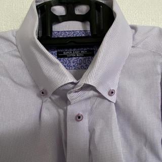 アオヤマ(青山)のSUPER EASY IRON ワイシャツ パープル 3L(シャツ)