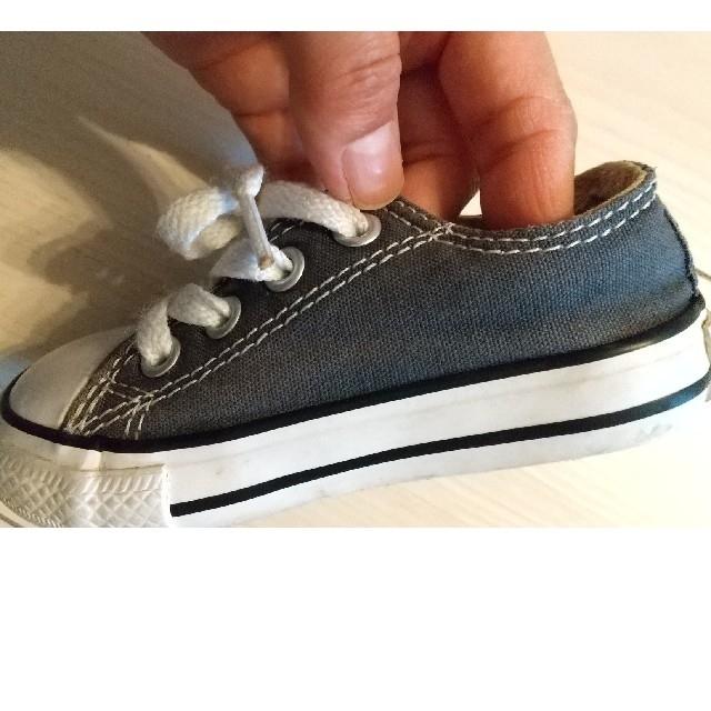 CONVERSE(コンバース)の日本未発売 コンバース オールスター スニーカー ベビー 12.5cm グレー キッズ/ベビー/マタニティのベビー靴/シューズ(~14cm)(スニーカー)の商品写真