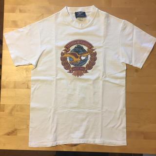 エンジニアードガーメンツ(Engineered Garments)のUSA製  Willis & Geiger エンブレムプリントTシャツ綿100(Tシャツ/カットソー(半袖/袖なし))