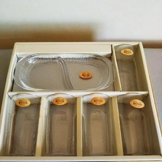 トウヨウササキガラス(東洋佐々木ガラス)のスナックセット(食器)
