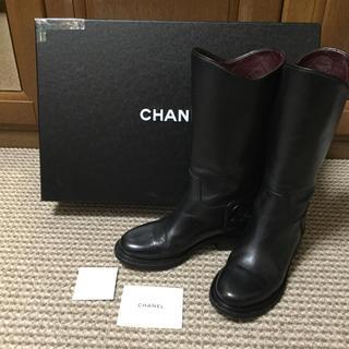 CHANEL - CHANEL ビックココマーク⭐️ミドル丈ブーツ
