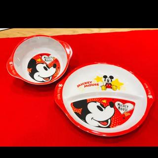 ミッキーマウス(ミッキーマウス)の新品 ミッキー プラスチック お皿 おわん ディズニー 離乳食(プレート/茶碗)
