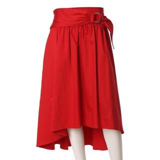 エフデ(ef-de)のef-de L 《大きいサイズ》ベルトバックロングフレアスカート 19号(ひざ丈スカート)