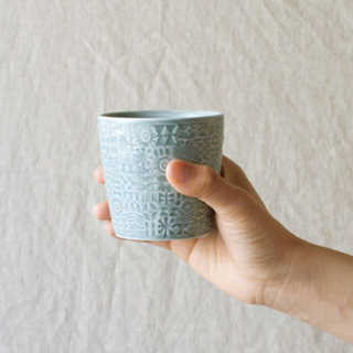 IDEE - birds' words patterned cup set