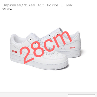 シュプリーム(Supreme)のSupreme Nike Air Force 1 White 白(スニーカー)