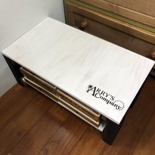 ARRYS  ホワイト モノトーン シンプル テーブル 新品(ローテーブル)