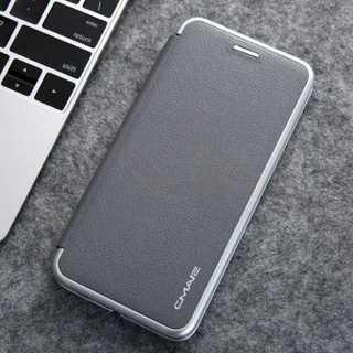 Galaxys10 カバー スリムケース グレー スタンド機能 カード入れ(Androidケース)