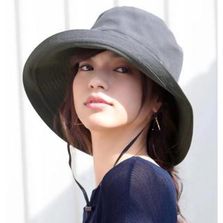 新品*IRODORI イロドリ あご紐付 紫外線 UVハット 帽子 折りたたみ◎(ハット)