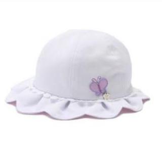 アナスイミニ(ANNA SUI mini)のANNA SUI mini♡UVケアつきスカラップハット 44cm〜48cm(帽子)