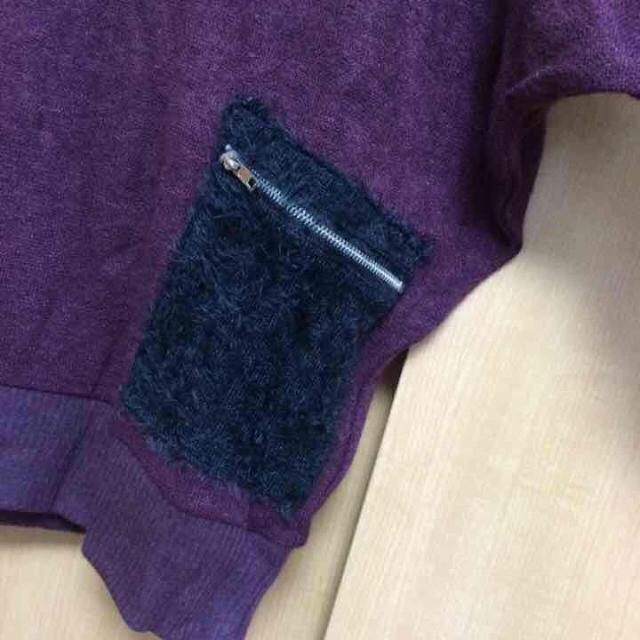 GLAD NEWS(グラッドニュース)のワインレッド色 ニット レディースのトップス(ニット/セーター)の商品写真