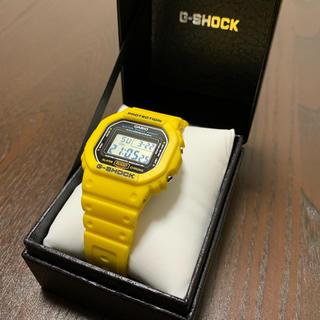 カシオ(CASIO)のgshock casio Gショック dw5600p イエロー 腕時計(腕時計(デジタル))