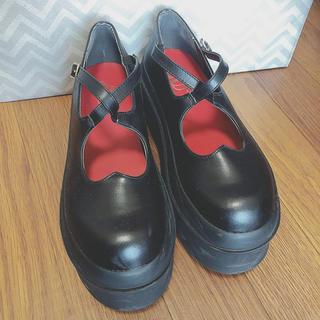 ユメテンボウ(夢展望)の夢展望厚底 23.5 ブラック(ローファー/革靴)