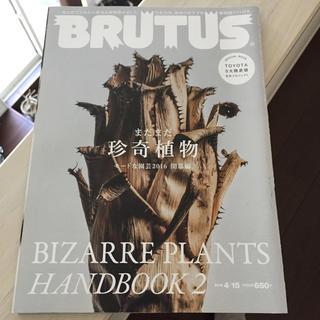 マガジンハウス(マガジンハウス)のBRUTUS (ブルータス) 2016年 4/15号(専門誌)