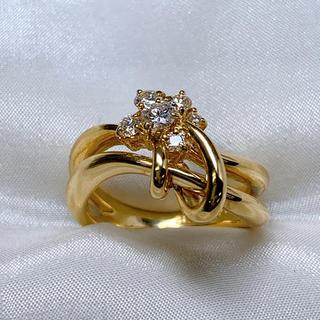 星の砂 k18  ダイヤモンド リング 指輪(リング(指輪))