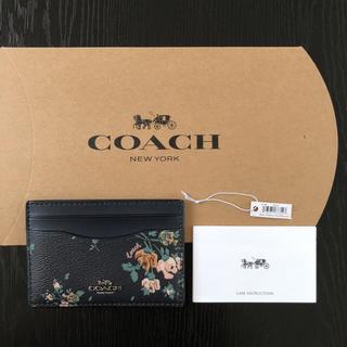 コーチ(COACH)のギフトボックス 付き コーチ COACH カードケース 91789 花柄 新作(名刺入れ/定期入れ)
