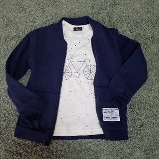 ベベ(BeBe)の子供服 パーカ(パーカー部分取り外し出来ます)ー&長袖シャツセット(ジャケット/上着)