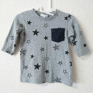 サンカンシオン(3can4on)のサンカンシオン 星柄七分袖カットソー 95サイズ相当(Tシャツ/カットソー)