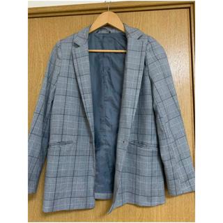 ジーユー(GU)のチェック ジャケット 韓国風(テーラードジャケット)