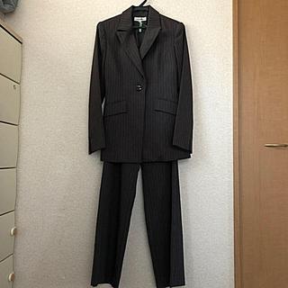 ニッセン(ニッセン)のレディース  7号スーツ グレー縦縞(スーツ)
