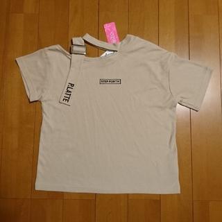 ピンクラテ(PINK-latte)の新品 ピンクラテ チョーカー アシメネック 半袖カットソー XS150(Tシャツ/カットソー)