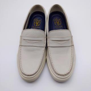 コールハーン(Cole Haan)のコールハーン Cole Haan 白 ローファー 26 cm 中古 革靴 正規品(ドレス/ビジネス)