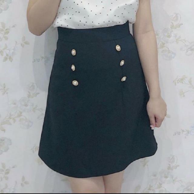 evelyn(エブリン)のパールスカート レディースのスカート(ミニスカート)の商品写真