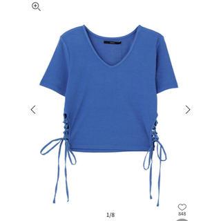 エモダ(EMODA)のサイドレースアップフィットTシャツ(Tシャツ(半袖/袖なし))