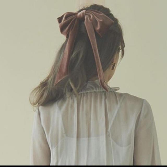 eimy istoire(エイミーイストワール)のエイミーイストワール  ベロアリボンバレッタ レディースのヘアアクセサリー(バレッタ/ヘアクリップ)の商品写真