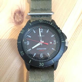 タイメックス(TIMEX)のTIMEX タイメックス ガラティンソーラー ブラック×グリーン(腕時計(アナログ))