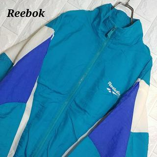 リーボック(Reebok)のリーボック 90s ナイロンジャケット ワンポイント エメラルドグリーン(ナイロンジャケット)