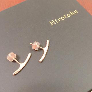 エストネーション(ESTNATION)のヒロタカ ダイヤモンドショートバーピアス 両耳(ピアス)