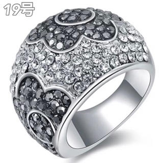 【SWAROVSKI】『花神の戯れ』クロスローズ クリスタルリング(リング(指輪))
