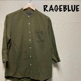 RAGEBLUE - レイジブルー カーキ 7部丈 シャツ