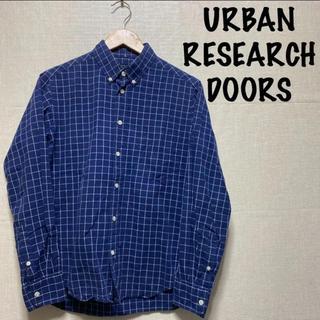 ドアーズ(DOORS / URBAN RESEARCH)のアーバンリサーチ ドアーズ ウィンドペン チェックシャツ ネイビー(シャツ)