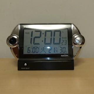 セイコー(SEIKO)のSEIKO目覚まし時計 PYXIS   RAIDEN  NR522K 大音量(置時計)