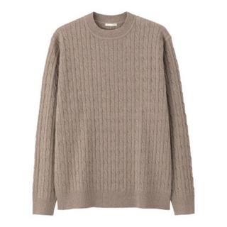 GU - GU ケーブルクルーネックセーター