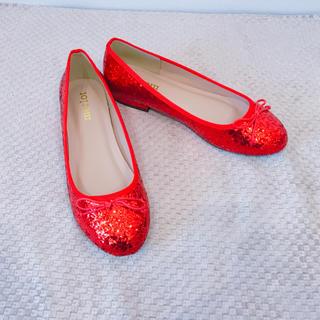 メルロー(merlot)の《◆SALE◆》グリッターシューズ★バレエシューズ★フラットシューズ★ぺたんこ靴(バレエシューズ)