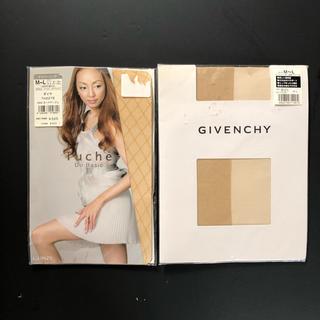 ジバンシィ(GIVENCHY)のジバンシー、Tuche 柄・肌色ストッキング 二足セット 未使用(タイツ/ストッキング)