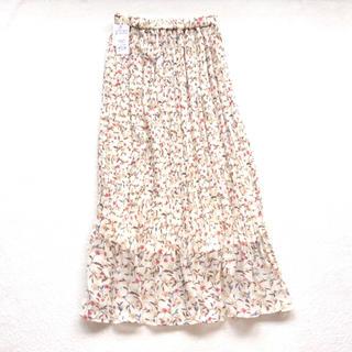 INGNI - イング 花柄プリーツロングスカート アイボリー