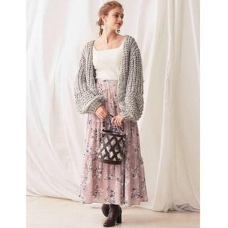 MERCURYDUO - 【値下げしました】ヴィンテージフラワーティアードスカート