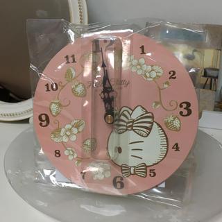 ハローキティ(ハローキティ)のハローキティ  壁掛け時計 直径約15センチ(掛時計/柱時計)