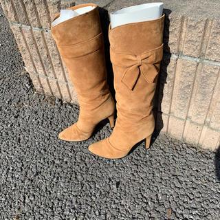 ダイアナ(DIANA)のDIANA ダイアナ スエードキャメルリボンブーツ(ブーツ)