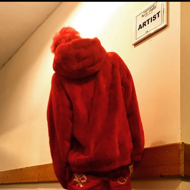 PEACEMINUSONE(ピースマイナスワン)の赤 ワークパンツ メンズのパンツ(ワークパンツ/カーゴパンツ)の商品写真