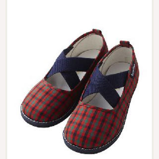 familiar - ファミリア  定番 赤チェック 靴 スリッポン 福岡岩田屋購入品