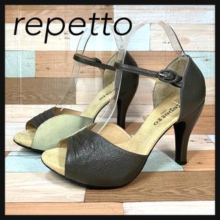 レペット(repetto)のrepetto レペット  オープントゥ  ヒールサンダル  24cm(サンダル)